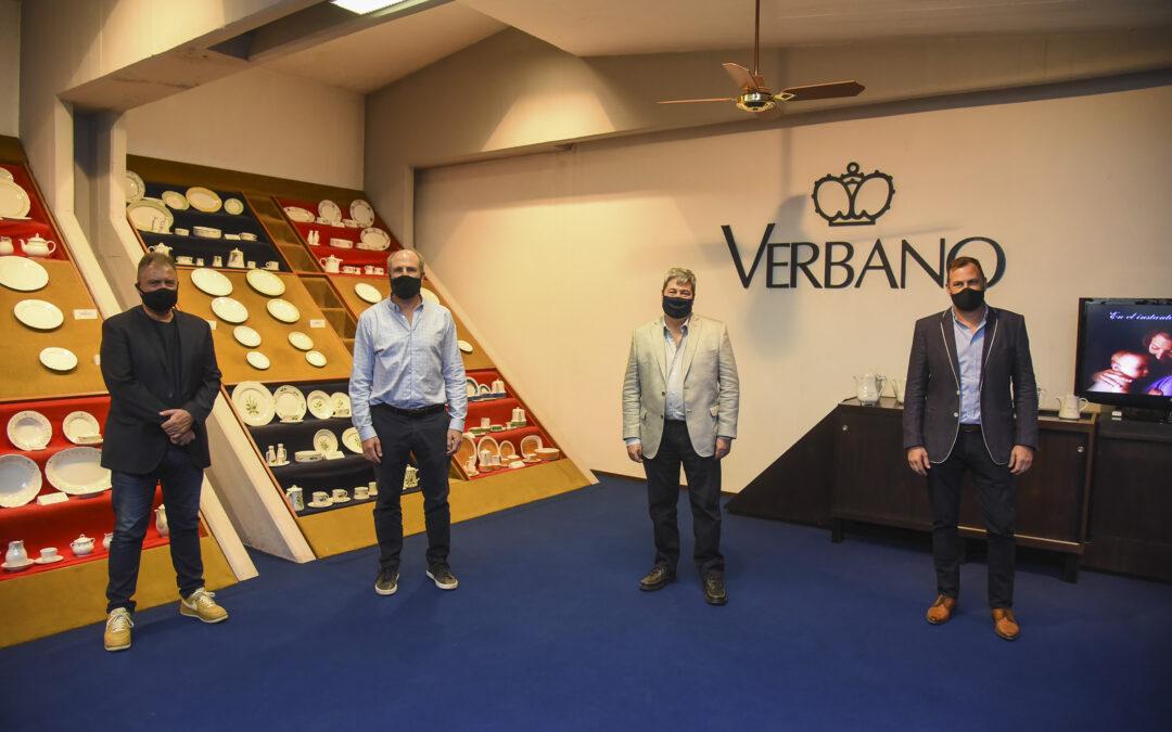 Apoyo desde la 'Casa Gris' para repotenciar la producción de porcelanas en Faiart-Verbano