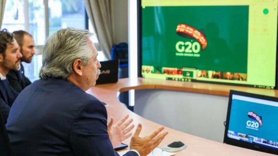 G-20: El presidente Alberto Fernández propuso un pacto global por la Pandemia