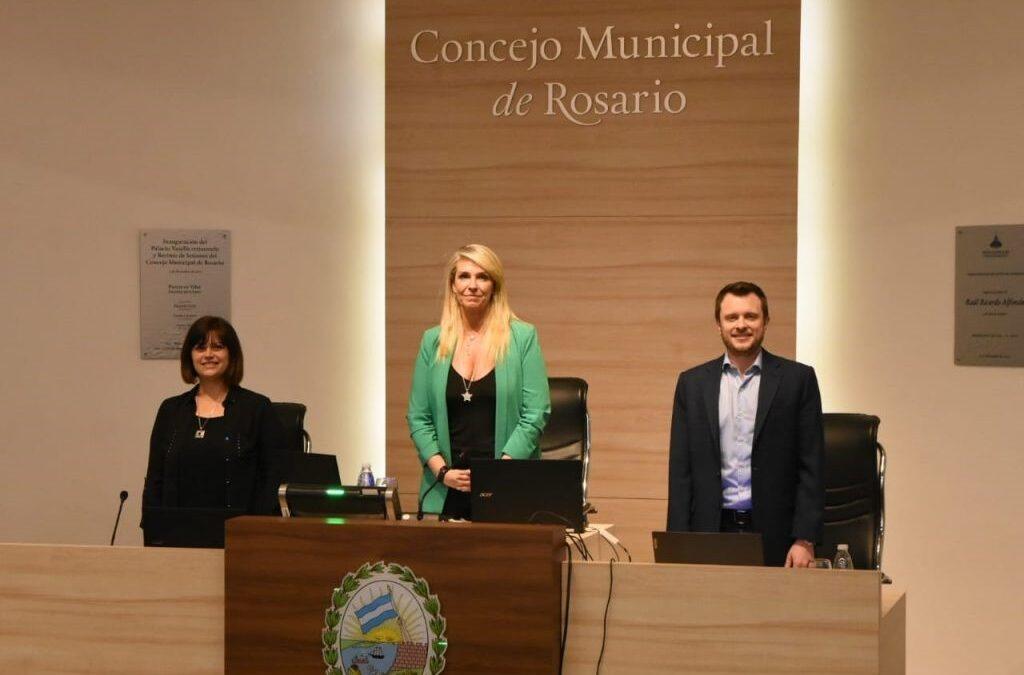 Ratificaron por nuevo período a la radical María Eugenia Schmuck como presidenta del Concejo Municipal rosarino