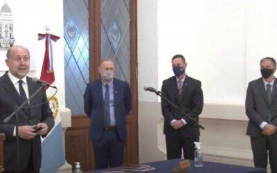 Perotti puso en funciones a sus nuevos ministros de Gobierno, de Trabajo y de Gestión Pública