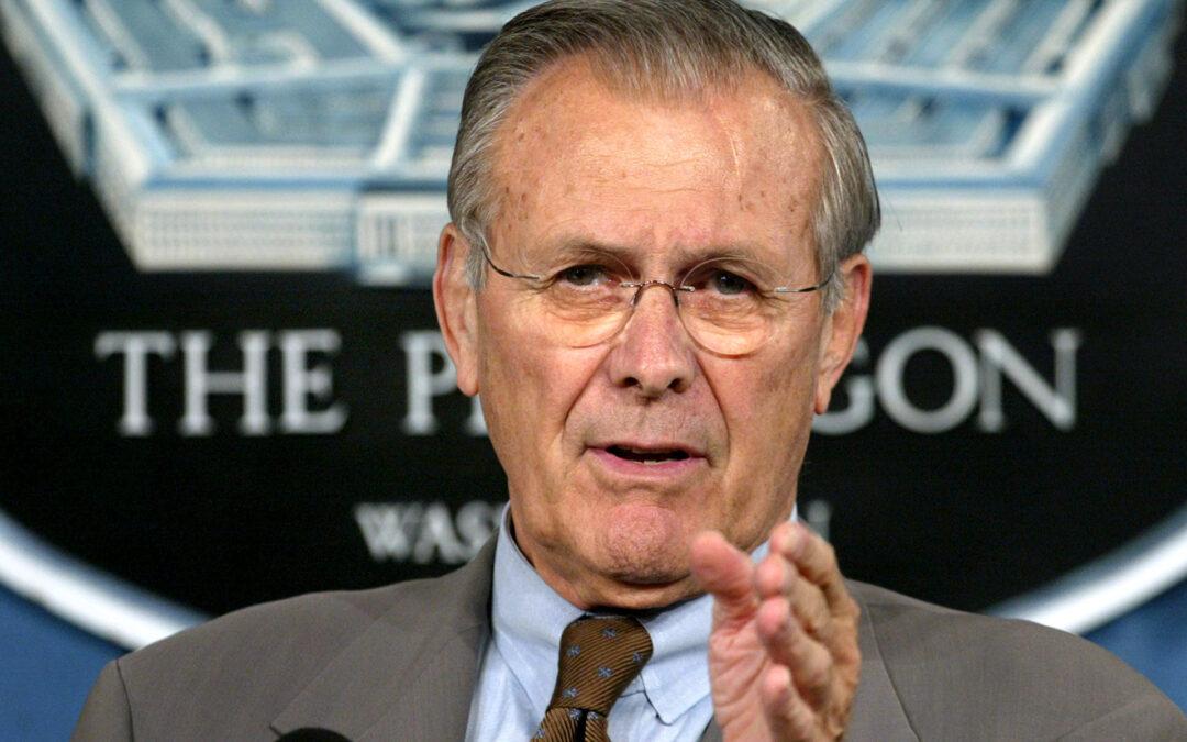 La muerte de Ronald Rumsfeld, un verdadero 'halcón' de las guerras