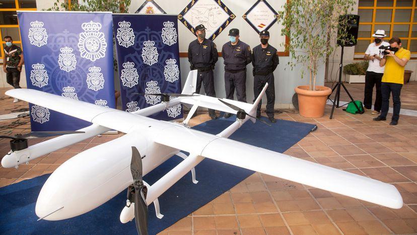Incautaron en Málaga un dron que podía transportar hasta 150 kilogramos de drogas